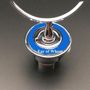 3D Metal Blue Chrome Star Bonnet Hood Emblem Badge for W202 W203 W204 W208 W210 W220 W221 44MM