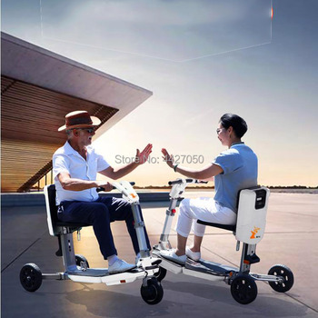 Luggage mini smart  foldable three-wheeled electric scooter wheelchair  for disabled
