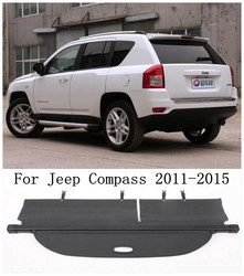 Car Rear Trunk Cargo Cover Security Shield Screen shade Fits For Jeep Compass 2011 2012 2013 2014 2015