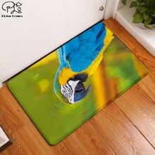 Забавный плюшевый винтажный напольный коврик в виде попугаев