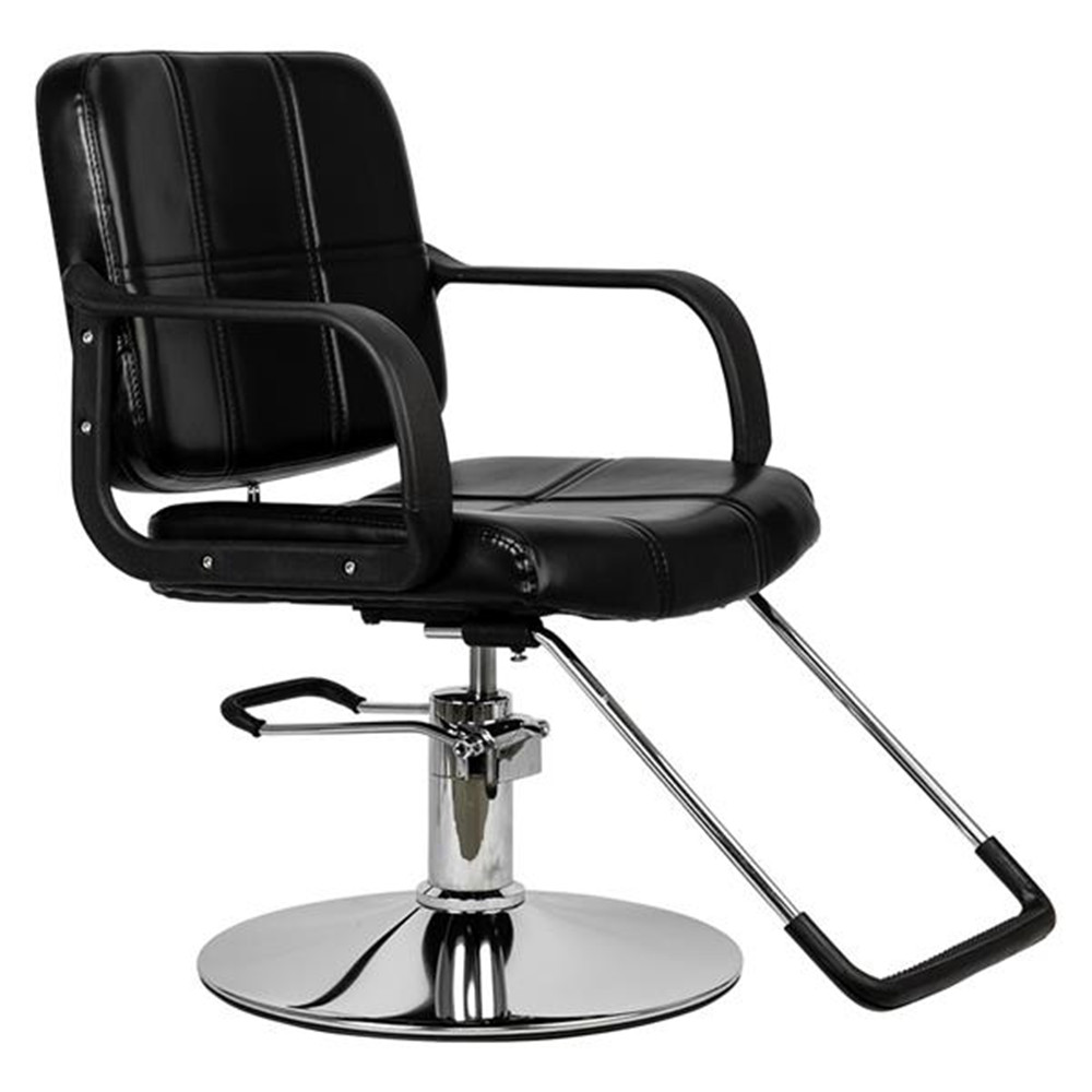 HC125 Woman Barber Chair Hairdressing Chair Black Soft leather surface Barber Chair suitable for use in barber shops image