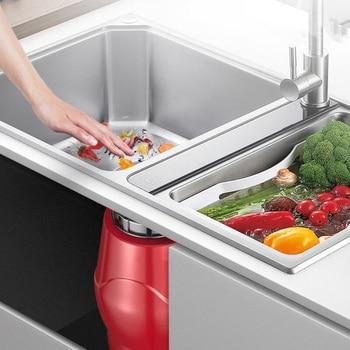 560W Kitchen Garbage Disposal Crusher Food Waste Disposers Stainless Dteel Grinder Appliances 6