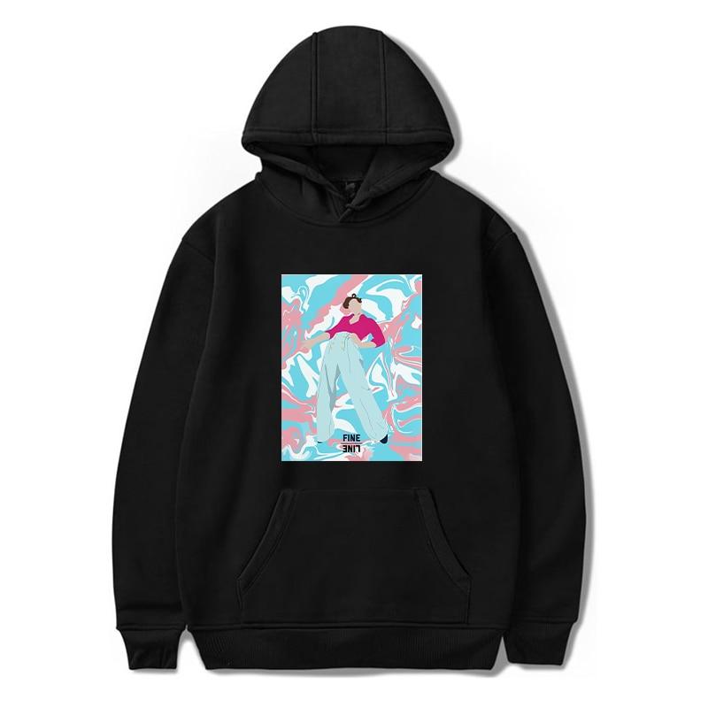 Harajuku Sweatshirt Harry Styles Hoodies Polerone Women Clothes Winter Pink Hoodie Streetwear Men Oversized Hoodie Bluza Damska