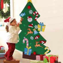 Extra Large Christmas Decorations Childrens Manual Puzzle DIY Felt Cloth Tree Ornaments Gift Navidad