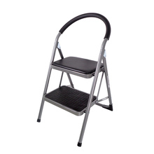 Duwee Home Use multifunctional steel 2-Tier Portable Folding step ladder with Hand Grip
