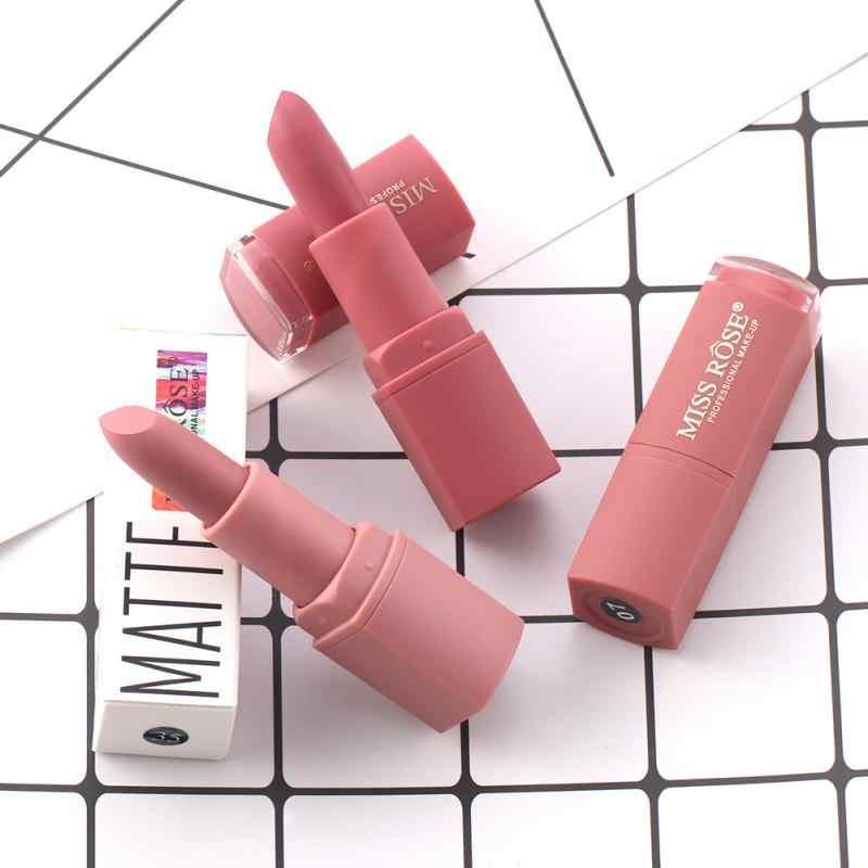 ミスローズ 12 色のメイクアップマットピンクメイクリップスティック防水唇は化粧品フェードしないリップクリーム TSLM2