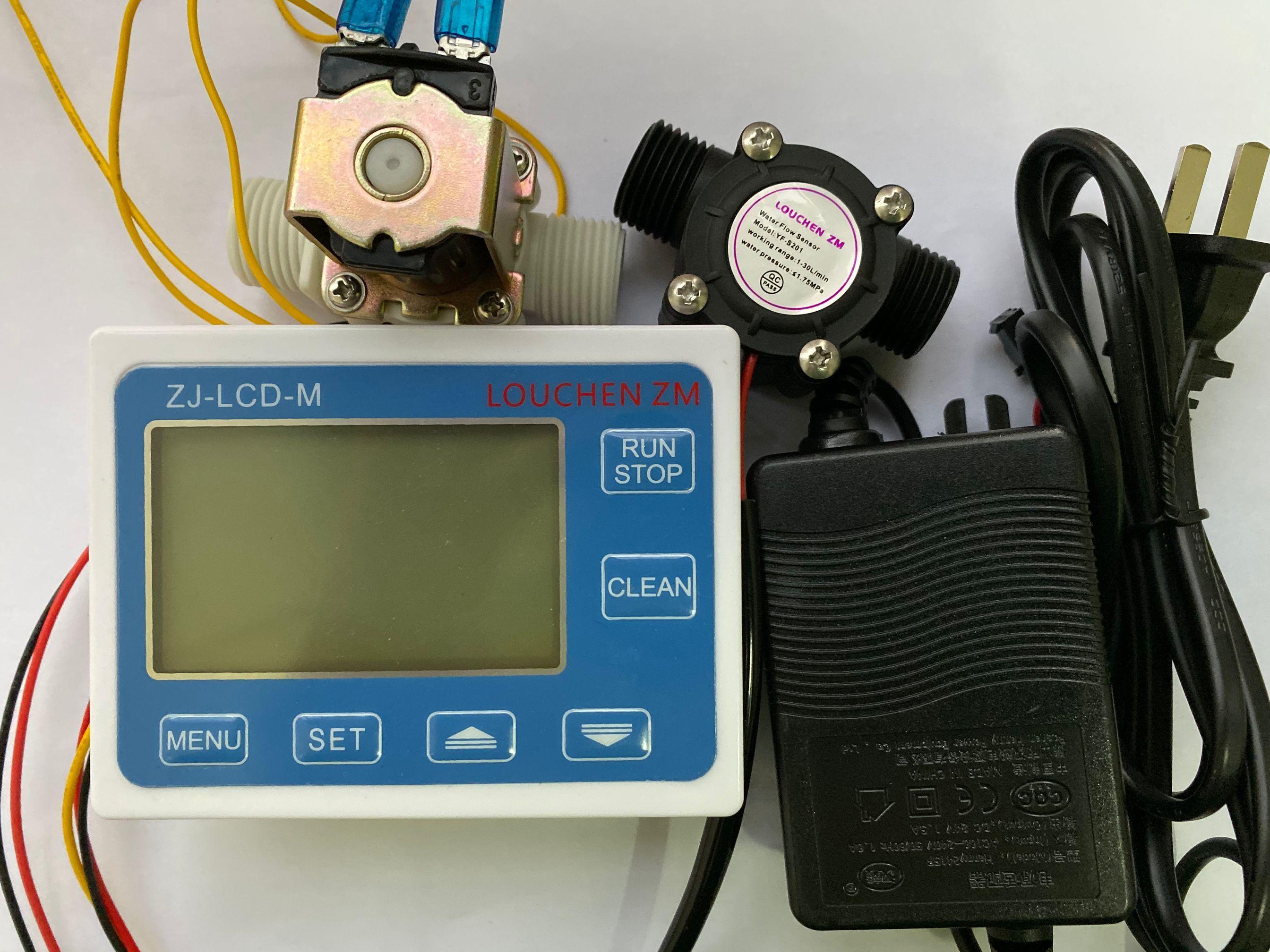 2019 LOUCHEN ZM Flow Meter Controller+ Temperature Sensor+1/2