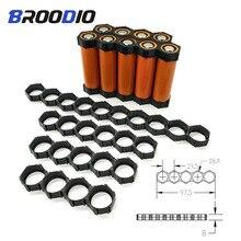 10PCS 18650 staffa supporto calore batteria al litio 18650 modulo gruppo distanziatore modulo scatola batteria fai da te scatola staffa di giunzione