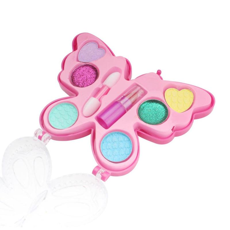 Creative Kids Makeup Set Toys Children's Princess Butterfly Makeup Box Toy Safe Non-toxic Washable Girls Toys Home Toy