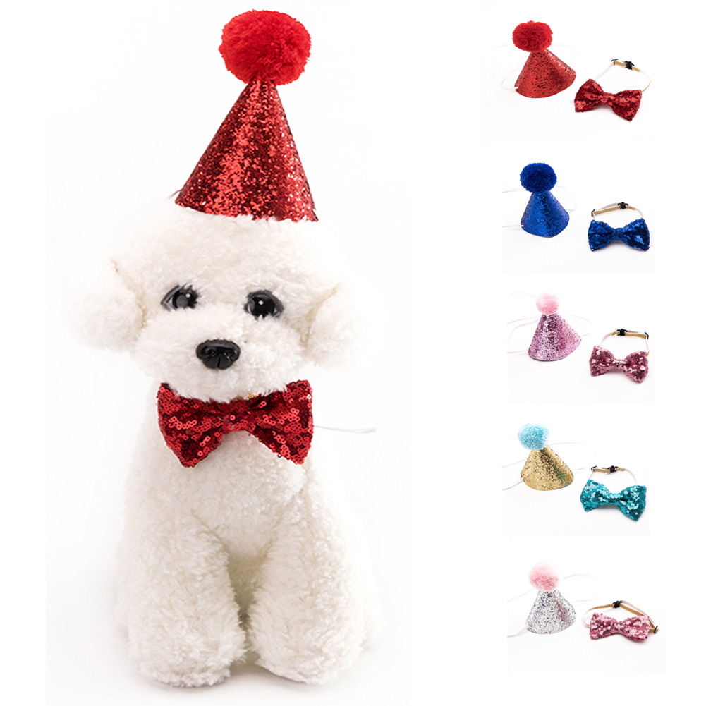 Bowknot Headwear Pet Hat Costume Cosplay Cat Adorable With Bow Tie Dog Accessory Hair Accessories