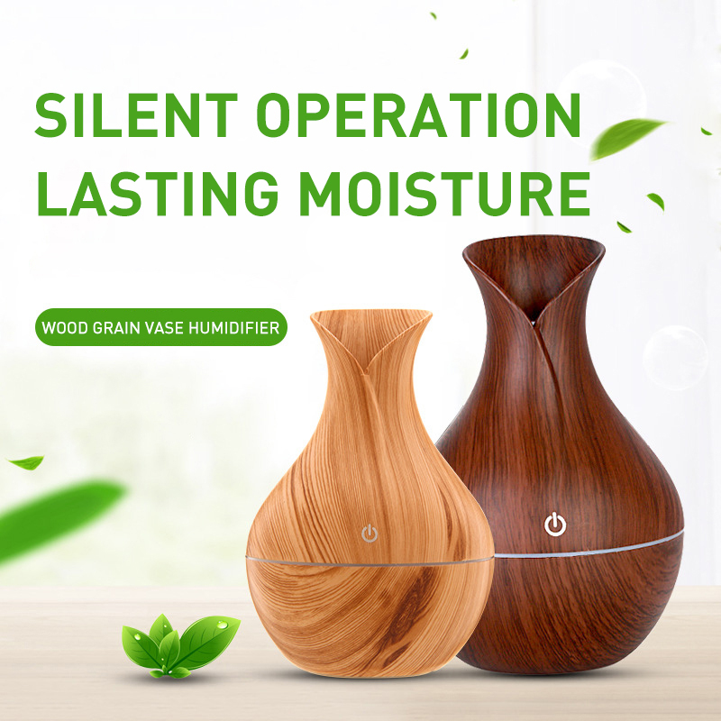 Household Wood Grain Aroma Humidifier ABS Environmental Protection Material Mute Antibacterial Wood Household Air Humidifier