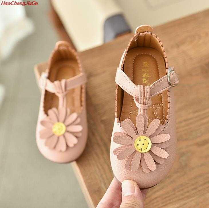 รองเท้าเด็กรองเท้าเด็กผู้หญิงน่ารักดอกไม้เด็กผู้หญิงรองเท้าหนังนักเรียนรองเท้า chaussure Enfant Garcon