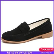 O16U נשים בלט דירות נעלי זמש עור להחליק על גבירותיי חמוד נעליים יומיומיות olorful נשי קלאסי מוקסינים נעלי אביב