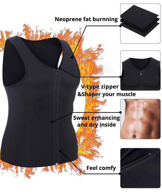 CXZD 2019 Men Waist Trainer Vest for Weightloss Hot Neoprene Corset Body Shaper Zipper Shapewear Slimming Belt Belly Men 1