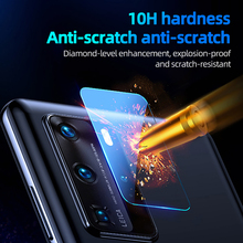 Camera Lens Tempered Glass For Huawei P40 Pro Camera Rear Lens Mobile Phone Protective Screen Protector For Huawei P40 Pro+ Film original rear camera lens for huawei honor 20 pro camera glass lens back camera frame for honor 20 10i 20i camera lens frame