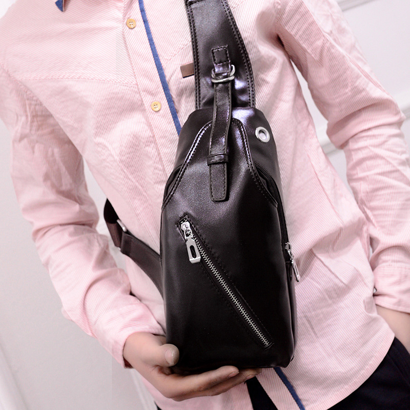 2016 New Style Men Chest Pack Korean-style Casual Oblique Wallet Men's Bag Shoulder Diagonal Large Capacity Bag