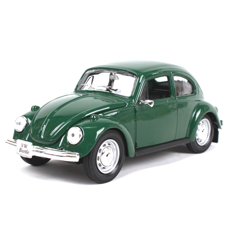 1/24 Maisto VW Beetle Bus Samba Vintage Diecast Model Car Simulatio Collective Edition Metal Material Collection Christmas Gift