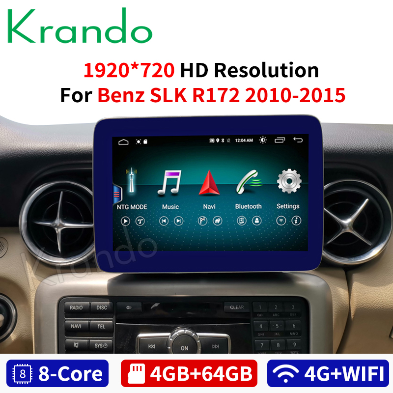 Krando Android 8.1 8.4'' IPS 4+64GB car radio dvd navigation for Mercedes Benz SLK 2010-2015 multimedia player with <font><b>bluetooth</b></font> image