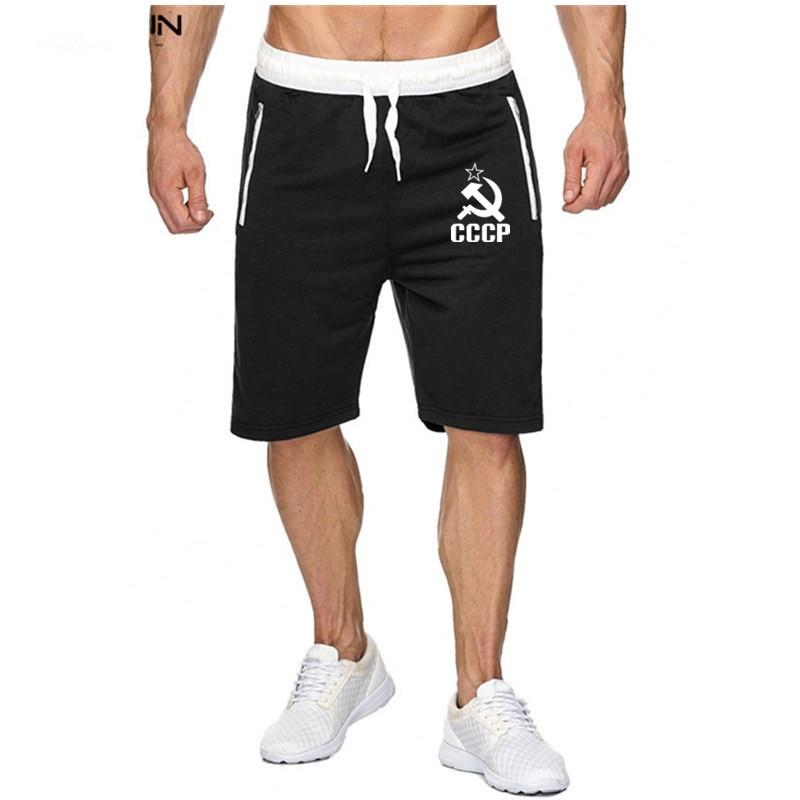 USSR CCCP Fashion New Shorts Men Sporting Beaching Shorts Trousers Cotton Fitness Short Jogger Casual Gyms Men Shorts