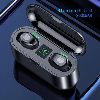 IPX5 Wasserdichte Touch Mini F9 TWS Wireless Stereo Bluetooth 5,0 Lade Bin Mini Stealth Sport Kopfhörer Wireless # CO
