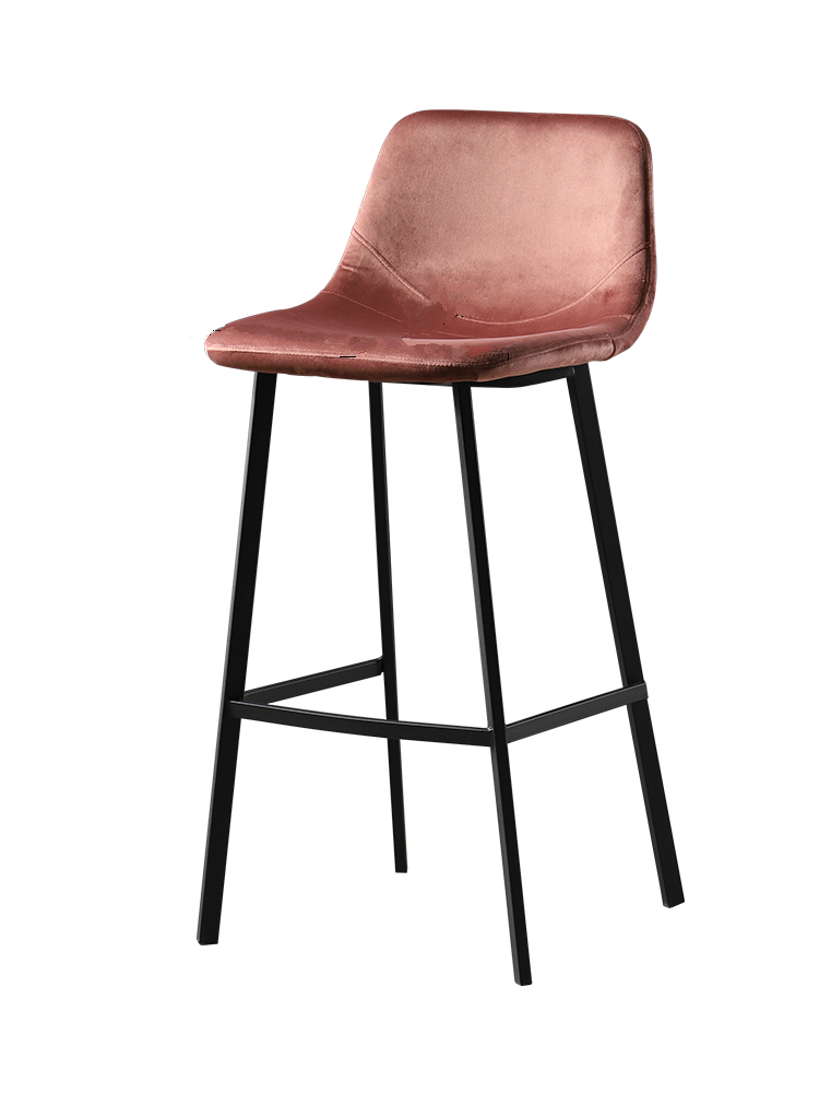 Nordic Light Luxury Bar Chair Simple   High Stool Home   Net Red   Retro Industrial Style