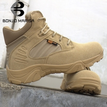 BONJOMARISA New Outdoor Useful Clibing Shoes Woman Hiking Ankle Boots Women 2019 Autumn Retro 38-46 Platform