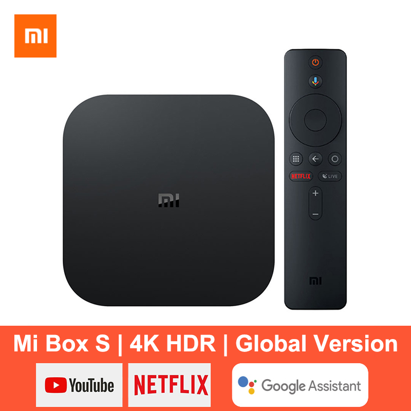 Xiaomi Mi Box S Smart TV Box Android 9 0 4K Ultra HD HDR 2G 8G WiFi Google Cast Netflix Media Player Smart Control Set Top Box
