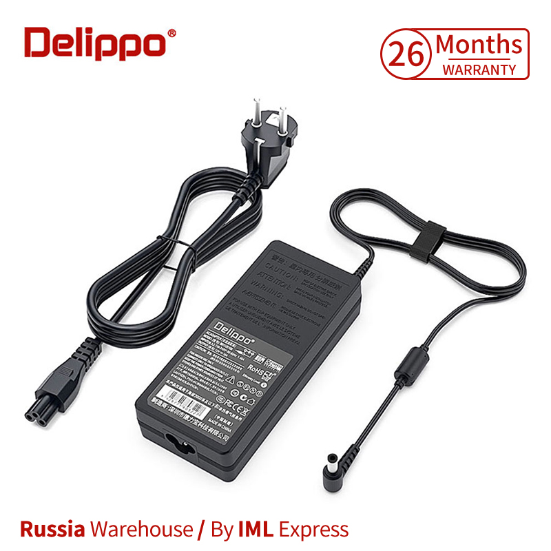 DELIPPO 120W 19V 6.32A AC laptop power adapter charger For <font><b>Msi</b></font> GE70 GE60 GS70 Gt640 <font><b>Gx620</b></font> Gx640 Gx660r Gx740 CX62 GE62 GE72 image