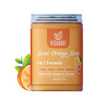 300ml Sweet Orange Body Scrub Cream for Scrubber Exfoliating Scrub to Stay Body Wash Cleansing Whitening Cream & Shrink Pores. 1