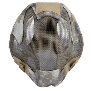 Image 2 - Outdoor Airsoft Masker Beschermende Full Gezicht Hekwerk Stalen Gaas Masker