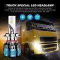 EURS светодиодный H7 H4 H11 автомобилей головной светильник H1 H3 грузовик светильник H8 H9 светодиодный светильник лампы 24V авто фары Canbus Error Free 6000K 72w...