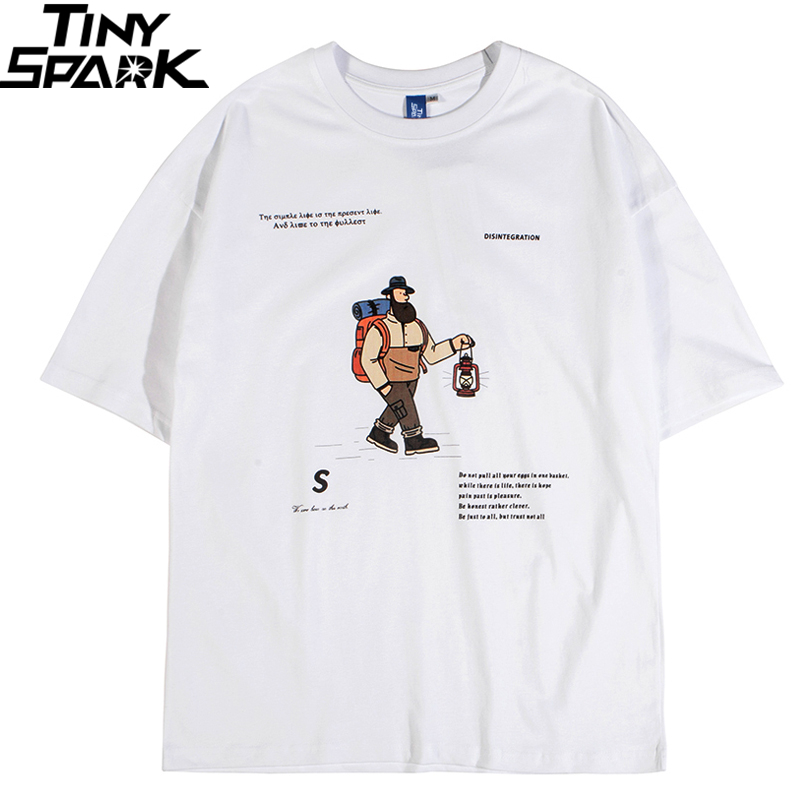 Hip Hop T Shirt Men 2020 Streetwear Harajuku Tshirt Funny Man Print T-Shirt  Summer Short Sleeve Cotton Tops Tees Fashion White