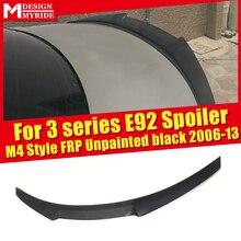 For BMW 3 Series E92 Spoiler High Kick M4 Style Primer Black FRP Unpainted 320i 325i 328i 330i 335i Trunk Wing 2006-2013