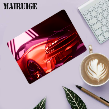 Mairuige Cool sports car Pattern Computer Small Gaming Mouse Pad Natural Rubber Desk Mat with Locking Edge Play Desk Mat image