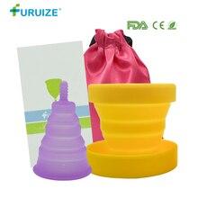 Foldable Menstrual Cup with Sterilizer Feminine Hygiene Silicone Vagina 1pcs Copa Sterilizing