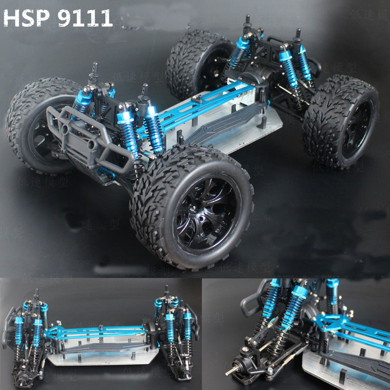 HSP 1/10 RC Big Foot Truck 94111PRO KIT Version Brushless Professional Off-road Crawler Electric Truck Chassis Frame Base