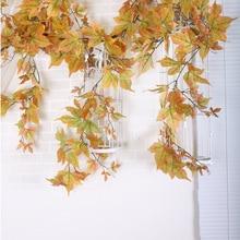 Artificial Leaves Multicolor Autumn Fall Windowill Garland Maple Leaf Vine Fake Foliage home garden Decoration