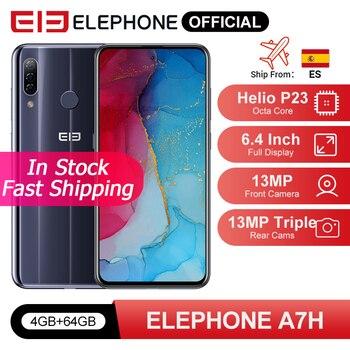 Перейти на Алиэкспресс и купить ELEPHONE A7H Helio P23 смартфон с восьмиядерным процессором 6,4 дюйма, ОЗУ 4 Гб, ПЗУ 64 ГБ, 3900 мАч