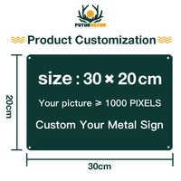 Signo de Metal personalizado Placa de letrero de estaño Metal Vintage placa de matrícula decoración para el hogar Decoración de la pared arte Posters