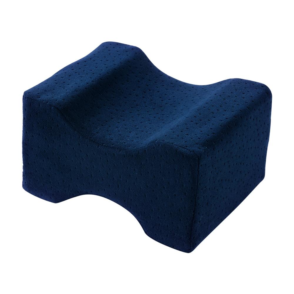 Подушка из пены с эффектом памяти, 3 цвета, Ортопедическая подушка, латексная подушка для шеи, волокно, медленный отскок, мягкая подушка, массажер для шейного отдела, забота о здоровье - Цвет: Velvet navy