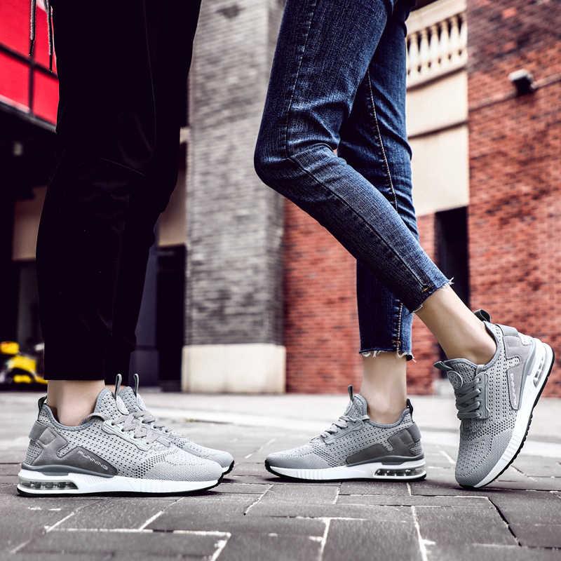 VastWave Paar Turnschuhe Schuhe Mesh Atmungsaktive Chaussure Homme Frühling/Herbst Männer Schuhe Air Kissen Plus Größe Dropshipping
