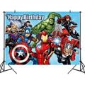 125*80 см тема супергероя Мстителей альянса, фон для фотосъемки на день рождения, ткань, гобелен, герой, украшение для дня рождения, игрушка