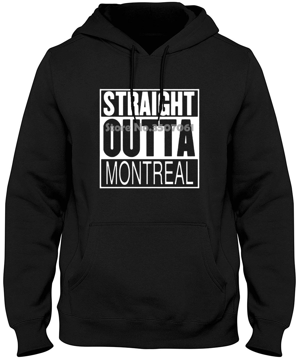 Straight Outta Montreal Quebec Parody Movie White O-neck Short Hoodies & Sweatshirts image