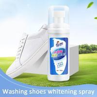 1 garrafa de lavagem livre branco sapatos espuma limpo branqueamento amarelo descontaminação branqueamento agente lavagem spray roupas suprimentos de limpeza Escovas para sapatos     -
