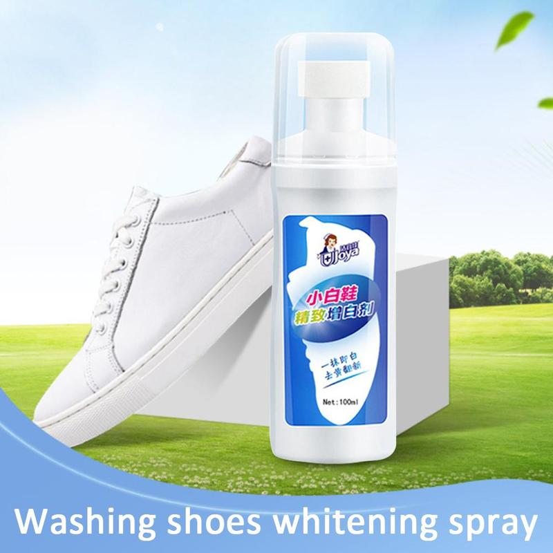 1bottle Wash-free White Shoes Foam Clean Whitener Yellow Decontamination Whitening Agent Washing Spray Clothes Cleaning Supplies