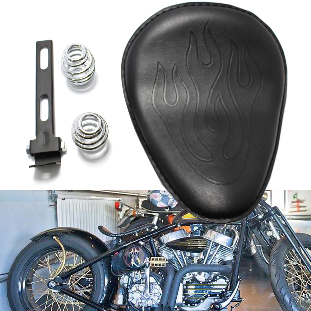 "3/""Golden Spring Motorcycle Solo Seat Baseplate+Bracket For Harley Chopper Bobber"