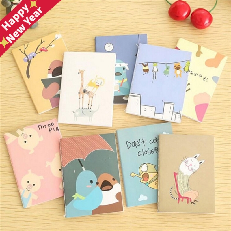 2Pcs Retro Notepad Book Korean Lovely Cartoon Image <font><b>Notebook</b></font> Vintage For Kids Stationery Kawaii Journal Diary <font><b>Notebook</b></font> image