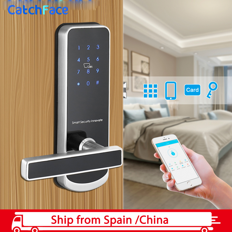 Waterproof Electronic Door Lock With TTlock APP  WIFI Smart Touch Screen Lock Digital Code Keypad Deadbolt For Home Apartment