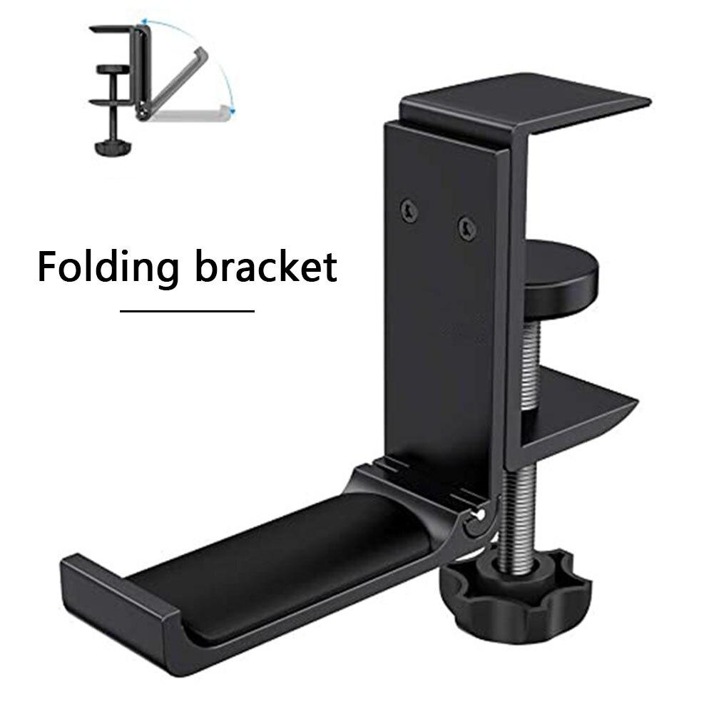 Aluminium Alloy Headphone Holder Headset Bracket Hanger Metal Wall Clamp Hook Adjustable Foldable Earphone Stand Desktop Mount