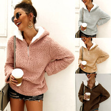 Рубашка трикотажная на молнии женская с капюшоном женские пуловеры с длинным рукавом Повседневные теплые женские зимние пальто вязаная куртка одежда